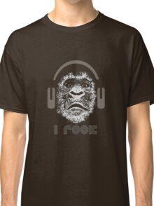 """Gorilla """"I Rock"""" Classic T-Shirt"""