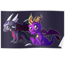 Chibi Spyro and Cynder Poster