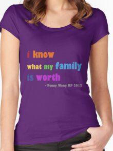 rainbow family Women's Fitted Scoop T-Shirt