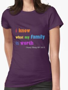 rainbow family Womens Fitted T-Shirt