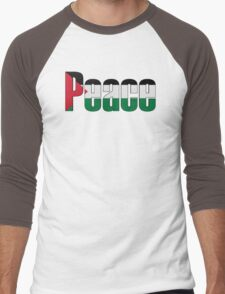 Peace in Palestine Men's Baseball ¾ T-Shirt