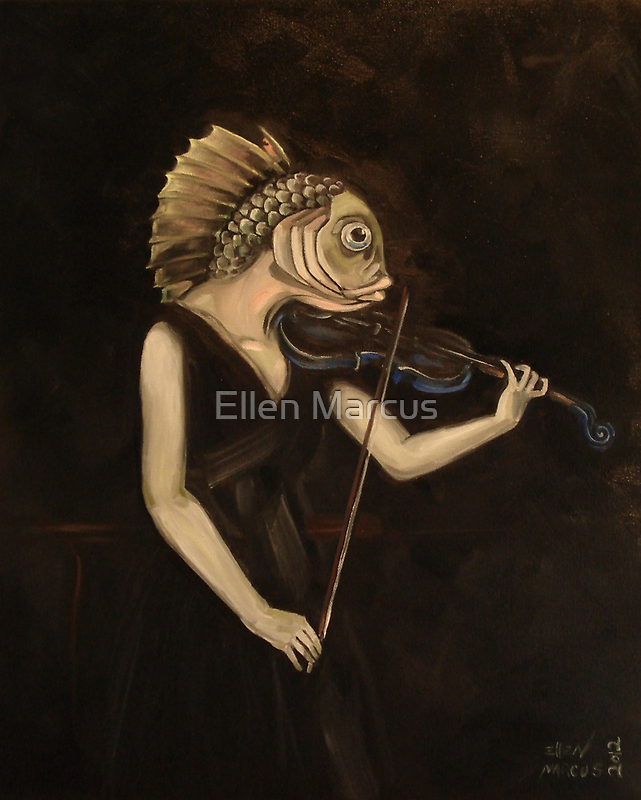 Fish With Violin (Tarbell) by Ellen Marcus