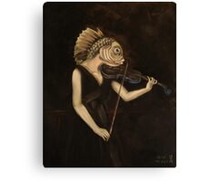 Fish With Violin (Tarbell) Canvas Print