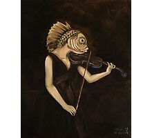 Fish With Violin (Tarbell) Photographic Print