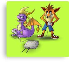 Spyro and Crash - PS1 classics Canvas Print