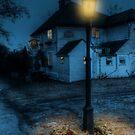 Ringlestone Inn At Night by Dave Godden