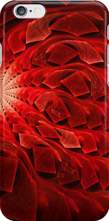Red Geometric iphone case  by Elaine  Manley