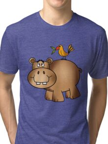 Hippo and Birdie Tri-blend T-Shirt