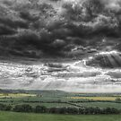 Storm Clouds over Trent Valley, Nottinghamshire,England by cameraimagery