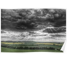 Storm Clouds over Trent Valley, Nottinghamshire,England Poster