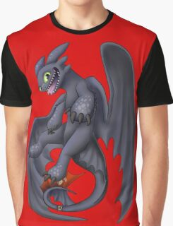 Playful Toothless Graphic T-Shirt