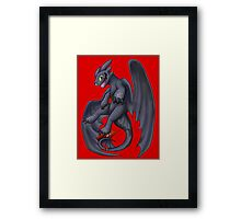 Playful Toothless Framed Print
