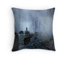 Futuristic City of Tomorrow Throw Pillow