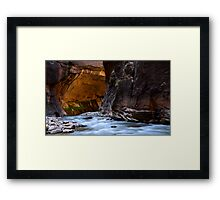 The Narrows Time And The River Flowing Framed Print