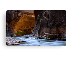 The Narrows Time And The River Flowing Canvas Print