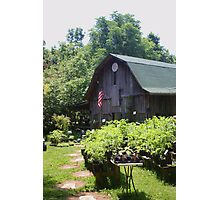 LOVELY BARN IN UTICA, INDIANA Photographic Print