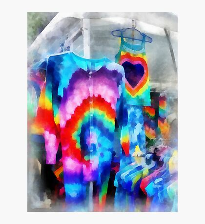 Tie Dye Shirts Photographic Print