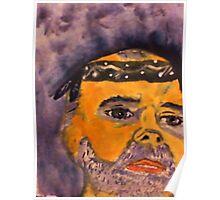 Rick in his do rag, watercolor Poster