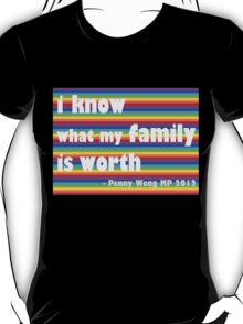 Penny Wong rainbow sticker T-Shirt