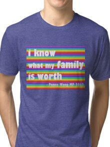 Penny Wong rainbow sticker Tri-blend T-Shirt