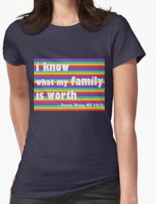 Penny Wong rainbow sticker Womens Fitted T-Shirt