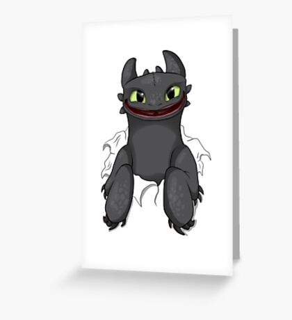 Curious Toothless Greeting Card