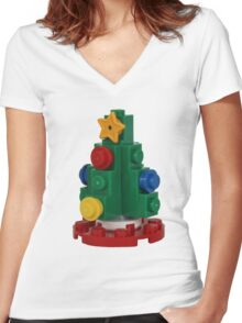 Christmas Tree Women's Fitted V-Neck T-Shirt