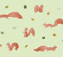 Red Squirrels by Sophie Corrigan