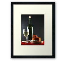 White and Pepper Cheese Framed Print