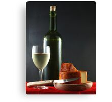 White and Pepper Cheese Canvas Print