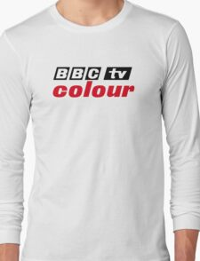 Retro BBC colour logo, as seen at Television Centre Long Sleeve T-Shirt