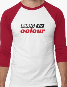 Retro BBC colour logo, as seen at Television Centre Men's Baseball ¾ T-Shirt