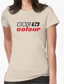 Retro BBC colour logo, as seen at Television Centre Womens Fitted T-Shirt