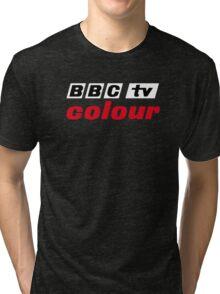 Retro BBC colour logo, as seen at Television Centre (in white) Tri-blend T-Shirt