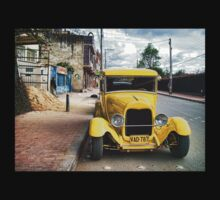 Yellow Classic Car Kids Clothes
