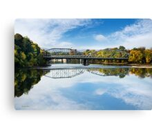 Exchange Street Bridge Landscape Binghamton NY Canvas Print