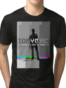 TobyMac This Is Not A Test Tour 2015 Toby Mac Rey4 Tri-blend T-Shirt