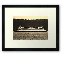 Washington State Ferry Framed Print
