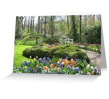 Little Bridge - Keukenhof Gardens Greeting Card