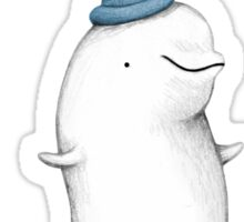 You're Cuter than a Beluga Whale in a Hat Sticker