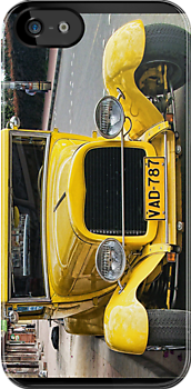 Yellow Classic Car (case) by Maria  Gonzalez