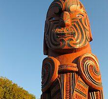 maori carving 3 by Anne Scantlebury