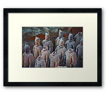 X'ian Warriors Aligned Framed Print