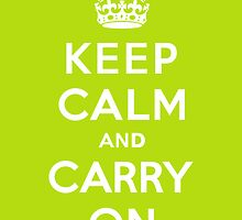 Keep Calm and Carry On Apple Green by Paul Lancaster