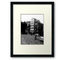 Amsterdam in Black and White Framed Print