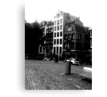 Amsterdam in Black and White Canvas Print