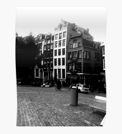 Amsterdam in Black and White Poster