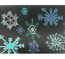 Snowflakes with black background Photographic Print
