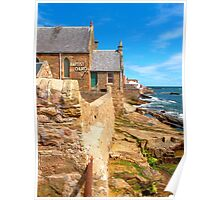 Anstruther Coastline with Baptist Church Poster