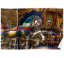 Carousel Horse Ready To Ride Poster